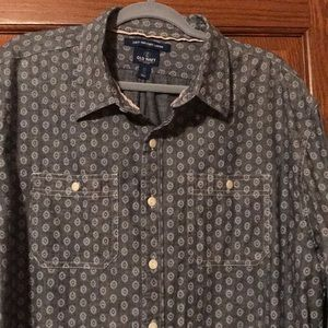 Denim pattern dress shirt